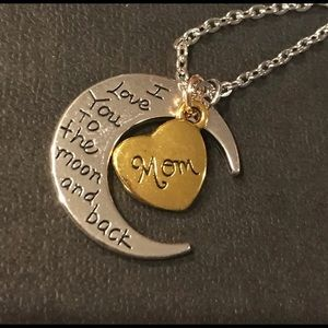 NWT Love you to the moon & back Mom Necklace